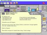 Dole 5 A Day Adventures Windows 3.x In the Cooks Kitchen the player selects an appliance and is shown recipes. The tabs on the right show pictures and, if appropriate, warnings such as 'be careful with the blender'