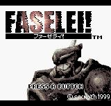 Faselei! Neo Geo Pocket Color Faselei - Japanese title screen