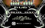 Metal Dust Commodore 64 Title Screen