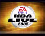 NBA Live 2005 PlayStation 2 The game's title screen