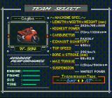 GP-1 Part II SNES Team select.
