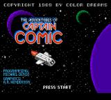 The Adventures of Captain Comic NES Title screen