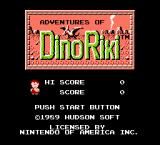 Adventures of Dino-Riki NES Title screen