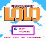 "Adventures of Lolo 2 NES Japanese title screen (first title named ""Lolo"" in japan!)"