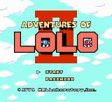 "Adventures of Lolo 3 NES Japanese title screen (second game named ""Lolo"" in japan!)"