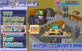 Road Trip: Shifting Gears Game Boy Advance Make your choice from the main menu