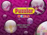 Puzzler World Windows The title screen of the game