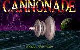 Cannonade DOS Title screen