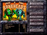 Bonkheads Windows Main menu