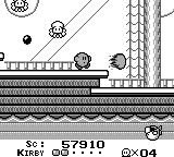 Kirby's Dream Land Game Boy Picked up a power-up on a ship