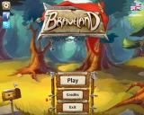 Braveland Windows Main menu - A gentle ballad starts playing in the background.