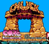 Chuck Rock II: Son of Chuck Game Gear Title part 1