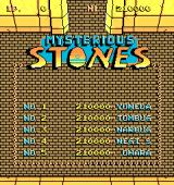 Mysterious Stones Arcade Title and scores