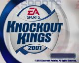 Knockout Kings 2001 PlayStation 2 The game's title screen