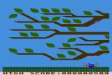 GYPSY Atari 8-bit Game over laying flat on the grass below the tree