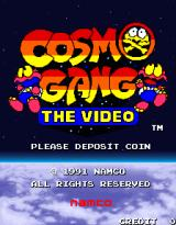 Cosmo Gang: The Video Arcade Title Screen.