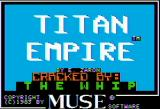 Titan Empire Apple II Title screen (helpfully defaced by Mr. Cooldude)