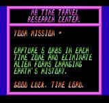 Time Lord NES Your brief for mission 1