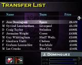 F.A. Manager PlayStation Transfer list