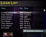 FA Manager PlayStation Loan list