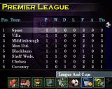 F.A. Manager PlayStation Results in the premier league after the first match