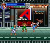 Super Double Dragon SNES Entering the Airport in Mission 2.