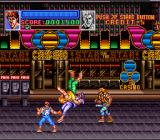 Super Double Dragon SNES Going through the streets of Las Vegas.