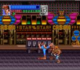 Super Double Dragon SNES One of Billy's special moves, he repeatedly kicks the enemy in the face.