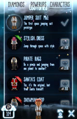 Little Galaxy Android Additional costumes in the galactic megastore