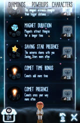 Little Galaxy Android Power-ups and upgrades in the galactic megastore