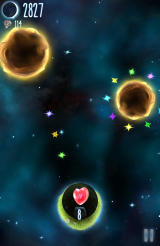 Little Galaxy Android Hearts represent revives to continue where you died.