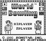 World Bowling Game Boy Title Screen.