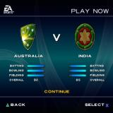 Cricket 2004 PlayStation 2 Here the player has selected 'Play Now' from the main menu. The game has selected the teams