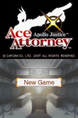 Apollo Justice: Ace Attorney Nintendo DS Title screen
