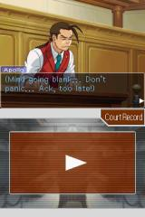Apollo Justice: Ace Attorney Nintendo DS Your first case, so you are nervous.