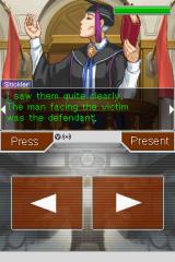Apollo Justice: Ace Attorney Nintendo DS Cross-examining the witness.