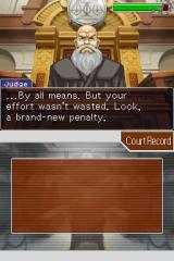 Apollo Justice: Ace Attorney Nintendo DS The Judge's patience has its limits.