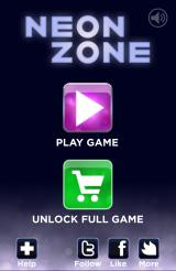 Neon Zone Android Main menu (Free version)