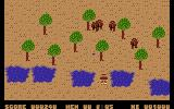 Who Dares Wins II Commodore 16, Plus/4 Soldiers amongst the trees.