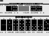Dominoes ZX81 Computer move is shown