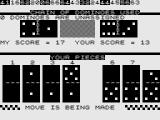 Dominoes ZX81 The upper row shows the chain