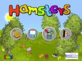 Hamsters Windows The game's main menu. The icons are, from left to right, Play a New Game, Load a Previous Game, Delete a Game, and Exit the Game