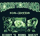 Donkey Kong Land 2 Game Boy Japanese title screen