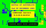 Austerlitz Amstrad CPC Title Screen.