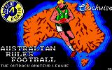 Australian Rules Football Amstrad CPC Loading Screen.