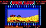 Beach Buggy Simulator Amstrad CPC Jump the rock.