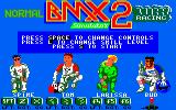 BMX Simulator 2 Amstrad CPC Title Screen.