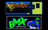 BMX Freestyle Amstrad CPC Attempting a wheelie.