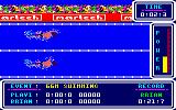 Brian Jacks Superstar Challenge Amstrad CPC 66m Swimming.