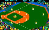 Championship Baseball Amstrad CPC The field of play.